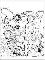 Adam and Eve coloring in