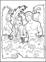 Adam and Eve Colour Picture