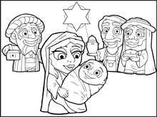 Nativity Coloring In Picture