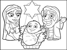 Nativity Colouring in Picture
