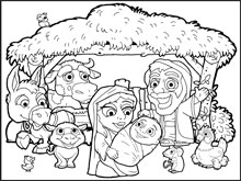 Nativity Colouring in