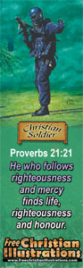 Christian Soldier Bookmark