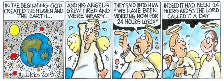 Free Christian Cartoon Comic Strips by Dikko.