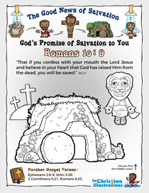 Colouring In Romans 10 9