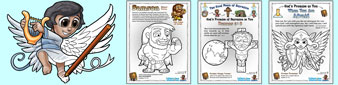 Helpful Christian free Colouring In Sheets