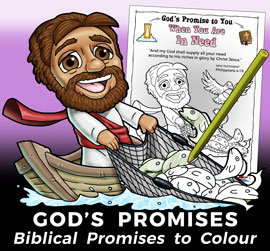 God's Promises colour in