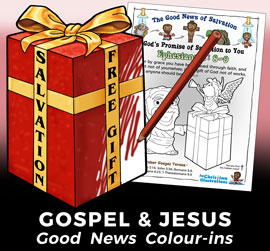 Free Jesus Christ Colouring In sheets