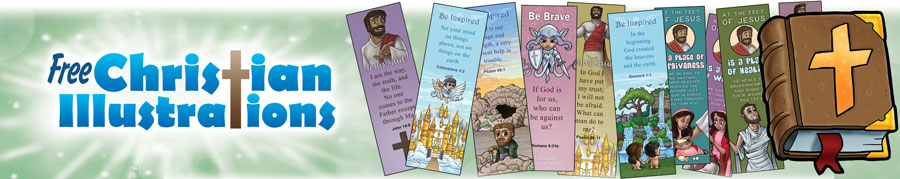 Free Christian Illustrations Bookmarks