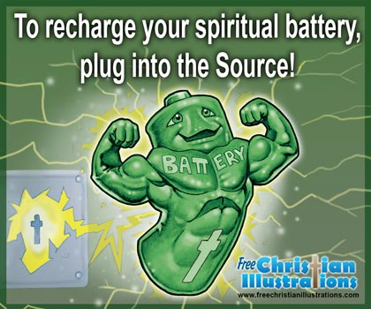 Free Christian Card Spiritual Battery