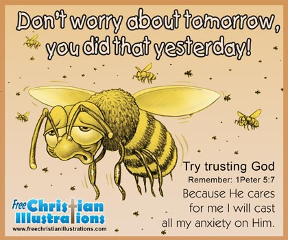 Free Christian Card Busy Bee