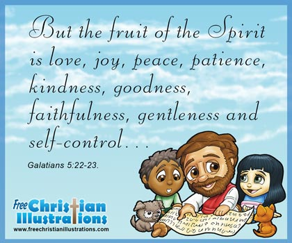 Free Christian Card Fruit of the spirit