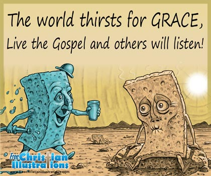 Free Christian Card Thirsty World