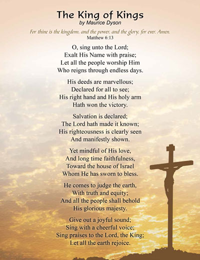 King of Kings Christian Poem by Maurice Dyson